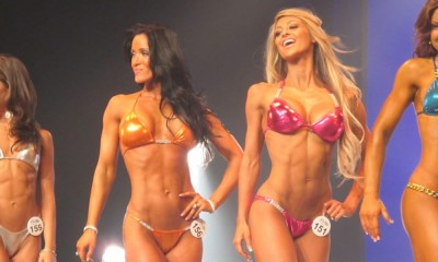 Bodybuilding women posing.