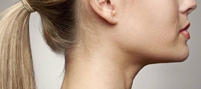 Ideally contoured neck.