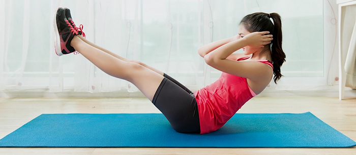 Lower body lift and exercise.